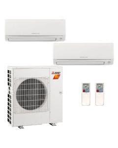28,600 BTU 18 SEER Mitsubishi Dual Zone  H2i Hyper Heat Pump System 15+15