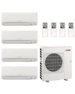 42,000 BTU 19.7 SEER Mitsubishi Quad Zone Heat Pump System 6+12+15+15