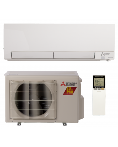 6,000 BTU 33.1 SEER Wall Mounted Mitsubishi Mini-Split H2i Hyper Heat Single Zone Heat Pump - MZ-FH06NA