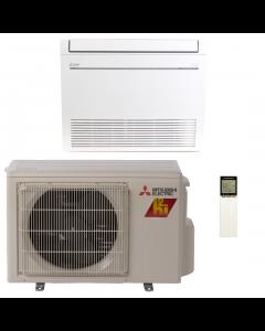9,000 BTU 28.2 SEER Floor Mounted Mitsubishi Mini-Split H2i Hyper Heat Single Zone Heat Pump - MZ-KJ09NA