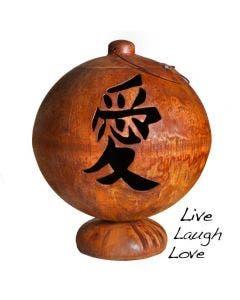 Ohio Flame 41 Inch Fire Globe - Live Laugh Love