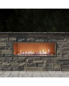 """Firegear Outdoor 48"""" Kalea Bay Outdoor Gas Fireplace With LED Lights - OFP-48LECO-NLED"""