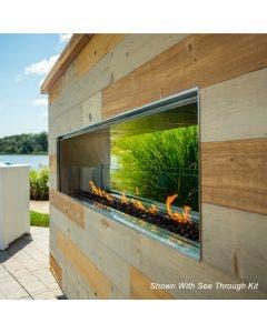 "Firegear Outdoor 60"" Kalea Bay Outdoor Gas Fireplace - OFP-60LECO-NLED"