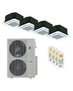 Perfect Aire 48,000 BTU 21.5 SEER Quad Zone Heat Pump System 12+12+12+12 - Ceiling Cassette