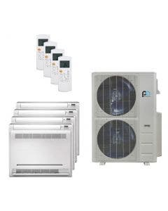 Perfect Aire 48,000 BTU 21.5 SEER Quad Zone Heat Pump System 12+12+12+12 - Floor Mounted