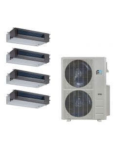 Perfect Aire 48,000 BTU 21.5 SEER Quad Zone Heat Pump System 9+9+12+18 - Concealed Duct
