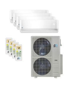 Perfect Aire 48,000 BTU 21.5 SEER Quad Zone Heat Pump System 9+9+12+18 - Wall Mounted