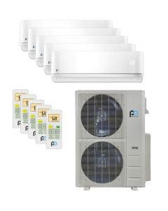 Perfect Aire 48,000 BTU 21.5 SEER Five Zone Heat Pump System 9+9+9+9+9 - Wall Mounted