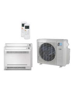 Perfect Aire 18,000 BTU 21.3 SEER Dual Zone Heat Pump System 12+12 - Floor Mounted