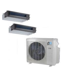 Perfect Aire 18,000 BTU 21.3 SEER Dual Zone Heat Pump System 9+9 - Concealed Duct