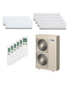 Daikin 48,000 BTU 18.8 SEER Six Zone Heat Pump System 7+7+9+9+9+9 - Wall Mounted