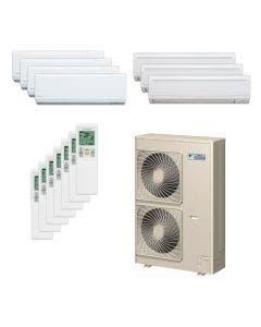 Daikin 48,000 BTU 18.8 SEER Seven Zone Heat Pump System 7+7+7+7+9+9+9 - Wall Mounted