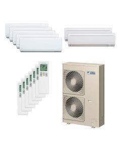 Daikin 48,000 BTU 18.8 SEER Seven Zone Heat Pump System 7+7+7+7+7+9+9 - Wall Mounted