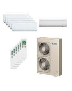 Daikin 48,000 BTU 18.8 SEER Six Zone Heat Pump System 7+7+7+7+7+9 - Wall Mounted