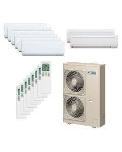 Daikin 48,000 BTU 18.8 SEER Eight Zone Heat Pump System 7+7+7+7+7+7+9+9 - Wall Mounted