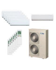 Daikin 48,000 BTU 18.8 SEER Seven Zone Heat Pump System 7+7+7+7+7+7+9 - Wall Mounted