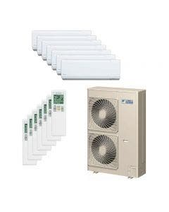Daikin 48,000 BTU 18.8 SEER Seven Zone Heat Pump System 7+7+7+7+7+7+7 - Wall Mounted