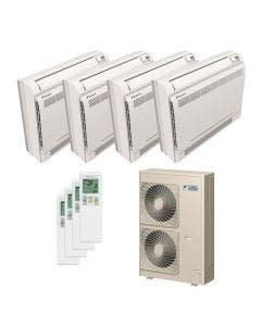 Daikin 48,000 BTU 18.8 SEER Quad Zone Heat Pump System 12+12+12+15 - Floor Mounted