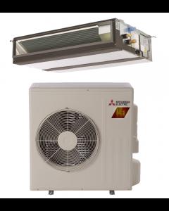 9,000 BTU 17.8 SEER Concealed Duct Mitsubishi Mini-Split Single Zone H2i Hyper Heat Heat Pump - PEAD-KA09NAHZ