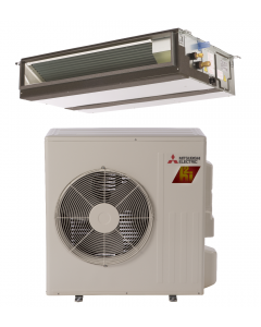 18,000 BTU 18.9 SEER Concealed Duct Mitsubishi Mini-Split Single Zone H2i Hyper Heat Heat Pump - PEAD-KA18NAHZ