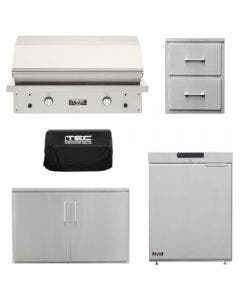 TEC Grills Patio FR-2 44-Inch 5-Piece Built-In Grill Package