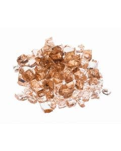 """Prism Hardscapes Fire Glass 1/4"""" Metallic - 5-lbs - Amber - PH-420-1"""