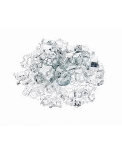 """Prism Hardscapes Fire Glass 1/4"""" Metallic - 5-lbs - Clear - PH-420-4"""