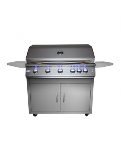 RCS Premier Series 40-Inch Freestanding Gas Grill With Rear Infrared Burner & Blue LED Lights