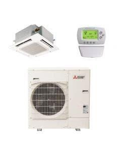 Mitsubishi 30,000 BTU 22.8 SEER Single Zone Heat Pump System - Ceiling Cassette