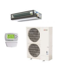 Mitsubishi 42,000 BTU 16.1 SEER Single Zone Heat Pump System - Concealed Duct