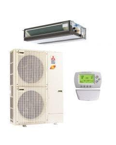 Mitsubishi 30,000 BTU 16.5 SEER Single Zone Heat Pump System - Concealed Duct