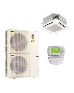 Mitsubishi 30,000 BTU 15.6 SEER Single Zone Heat Pump System - Ceiling Cassette