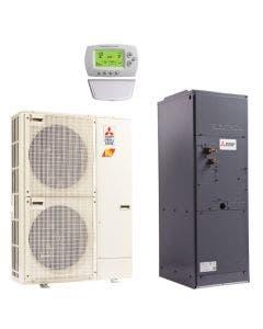 Mitsubishi 42,000 BTU 15.3 SEER Single Zone Heat Pump System - Multi-Positional