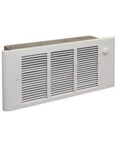 Qmark Heater Up to 1500W at 120V Complete Fan-Forced Wall Heater with Thermoset White - GFR1500T2F