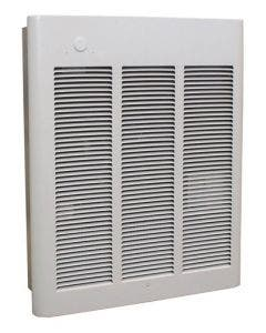 Qmark Heater 750W/1500W Commercial Fan-Forced Wall Heater, 120V White - CWH1151DSF