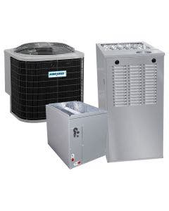 1.5 Ton 13 SEER 80% AFUE 44,000 BTU AirQuest Gas Furnace and Air Conditioner System - Multi-Positional
