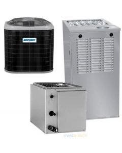 1.5 Ton 15 SEER 80% AFUE 44,000 BTU AirQuest Gas Furnace and Air Conditioner System - Upflow/Downflow