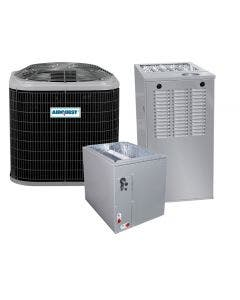 1.5 Ton 14 SEER 80% AFUE 44,000 BTU AirQuest Gas Furnace and Heat Pump System - Multi-Positional