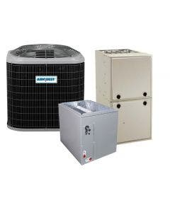 2 Ton 14 SEER 92% AFUE 40,000 BTU AirQuest Gas Furnace and Heat Pump System - Multi-Positional