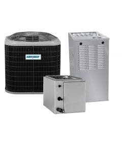 2 Ton 14 SEER 80% AFUE 44,000 BTU AirQuest Gas Furnace and Heat Pump System - Upflow/Downflow