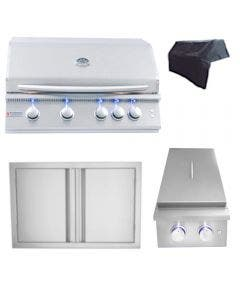 RCS Premier Series 32-Inch 4-Piece Built-In Grill Package