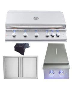 RCS Premier Series 40-Inch 4-Piece Built-In Grill Package 2