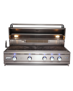 RCS Cutlass Pro 42-Inch Built-In Gas Grill With Rear Infrared Burner & Blue LED Lights - RON42A/RON42ALP - Front View