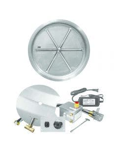 Firegear 29-Inch Round Bowl Pan Fire Pit Burner Kit With Remote - FPB-29RBSAWS-N
