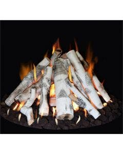 """Grand Canyon Gas Logs 18"""" - 48"""" Tall Stack Fire Pit Burner Kit With Logs"""