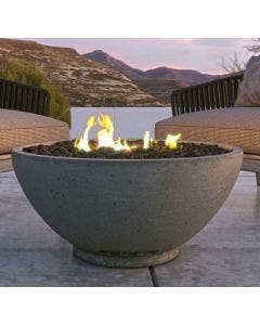 Firegear Sanctuary 2 Series 39-Inch Round Gas Fire Pit With Push Button Ignition