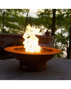 Fire Pit Art Gas Fire Pit - Saturn with Lid