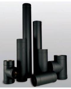Ventis 6 Inch Single Wall Black Pipe