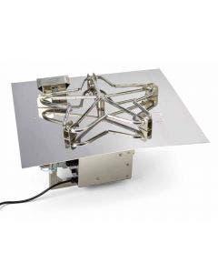 HPC 18-Inch Electronic Ignition Square Flat Pan Burner Kit - 18FSSEI-SQ