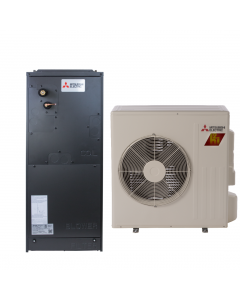 12,000 BTU 19 SEER Multi-Positional Mitsubishi Mini-Split Single Zone H2i Hyper Heat Heat Pump - SVZ-KA12NAHZ